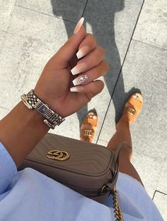 In seek out some nail designs and ideas for your nails? Listed here is our list of 21 must-try coffin acrylic nails for trendy women. Aycrlic Nails, Shiny Nails, Matte Nails, Fun Nails, Nail Nail, Classy Nails, Stylish Nails, Best Acrylic Nails, Acrylic Nail Designs