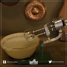 What is this new piece of kitchen wizardry? #Downton is certainly moving with the times!  #Electricwhisk #Cooking #Baking #Downton #DowntonAbbey