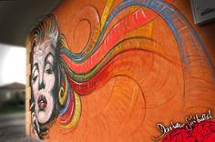 Marilyn Coloured - acrylic on wall 200x400cm
