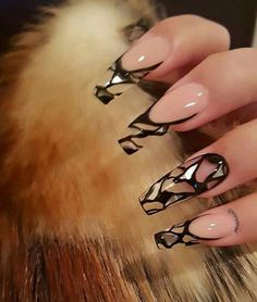 Stained glass ballet shaped tips