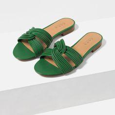 fd2fd6d7eaa Image 5 of KNOT DETAIL SLIDES from Zara Vegan Sandals
