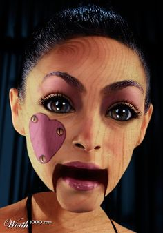 Super cool puppet makeup (Halloween, marionette, doll)
