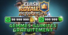 Clash Royale Astuces iOS/Android - Générateur de Gemmes jamais révélée, qui vous permet d'avoir des Gemmes et Pièces de monnaie illimités. http://clashroyaleastuces.fr/