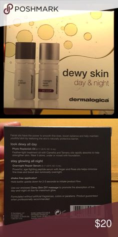 Dermalogica dewy skin day & night BRAND NEW, never opened in box! Dewy Skin Day & Night treatments. Each are .17 oz. Skin care Dermalogica Makeup