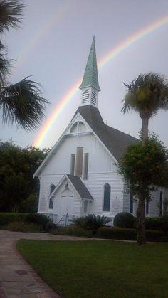 Church With God's Promised Rainbow
