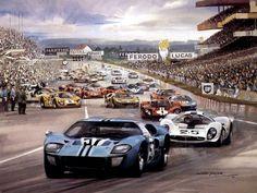 Michael Turner (b.1934) — Ford GT 40 Le Mans 1967 (1024×768)
