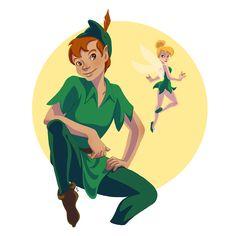Peter Pan and Tinker Bell <3 . #peterpan #disneypeterpan #tinkerbell #disneytinkerbell #disneyfanart #fanart #ilustragram #digitalart #digitaldrawing #fairytale #childrensillustrations #characterdesign #ilustratorsofinstagram #artistsoninstagram