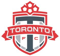 Toronto FC Primary Logo (2007) - A 'T' on a red shield with a maple leaf on top