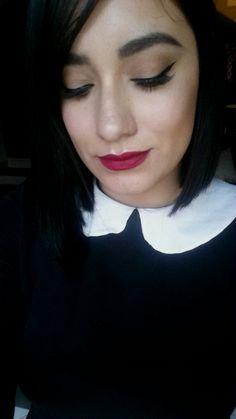 Red lips & winged liner @gensmakeup