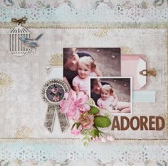 """Design Team project for C'est Magnifique kits using the beautiful September Kit, """"Shabby Dreams"""".  Features paper from Scrapberry's (Russian) and Kaisercraft (Australia).  Thanks for looking."""