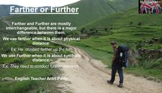 Farther or Further? #learnenglish