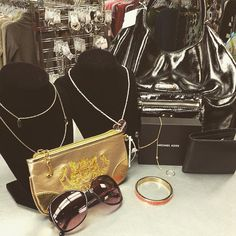 We've got some really awesome brand name accessories in! ‪#‎michaelkors‬ purse and wallet, ‪#‎juicycouture‬ wallet, ‪#‎guess‬ necklace and sunglasses, ‪#‎katespade‬ necklace and a ‪#‎marcjacobs‬ bracelet! #‎platosclosetkitchener‬ | www.platosclosetkitchener.com