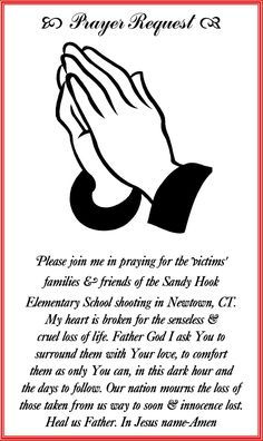 Brokenhearted at the senseless loss of life & innocence loss in the Sandy Hook Elementary School Shooting. Please Pray for the families & friends of those that were killed.