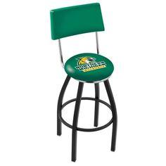 Northern Michigan Wildcats D1 Black Bar Stool with Back - SportsFansPlus