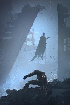 "Iron Age    Tony Stark, Vision    by Kevin M. Wilson    667px x 1,000px    #fanart    $65 24"" x 36"""