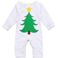 7e2ee1af14f Infant Unisex Baby Boys Girls Cotton Santa Tree Romper Jumpsuit Outfit Best  Christmas Gift 03 Months