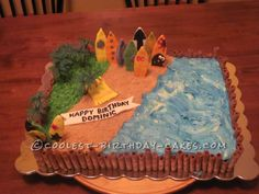 Surf's Up Cake For A Beach Lover!... This website is the Pinterest of birthday cake ideas