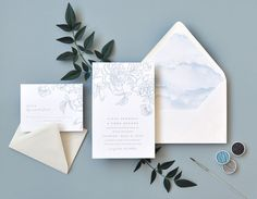 "Smitten On Paper ""Pippa"" Dreamy Letterpress Peony Wedding Invitation"