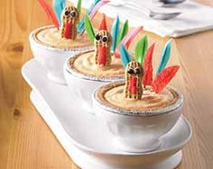 ADORABLE for the Kid's Thanksgiving Table or Party! Kid's Pumpkin Ice Cream Pie