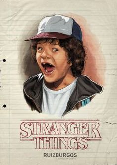 Stranger Things notebook paper