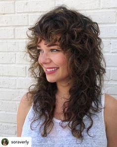 Curly Shag Haircut, Long Shag Hairstyles, Modern Shag Haircut, Medium Shag Haircuts, Haircuts For Curly Hair, Curly Hair Cuts, Medium Hair Cuts, Long Hair Cuts, Hairstyles Haircuts