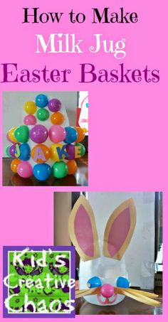 7 How to Preschool Easter Crafts for Kids: Plastic Easter Egg Decorating #Easterbaskets
