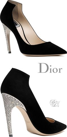 Brilliant Luxury by Emmy DE ♦Dior Black Suede Calfskin Pump