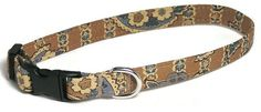 XS Dog Collar  French Beige Vintage Paisley  Extra by PawsnTails