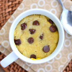 Gluten Free Chocolate Chip Cookie in a Cup