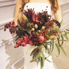 TRUNK BY SHOTO GALLERYさんはInstagramを利用しています:「#TRUNKBYSHOTOGALLERY #TRUNKwedding #TRUNK花嫁 #ウエディングブーケ #ウエディングドレス #ウエディングレポ #ブーケ #クラッチブーケ #大人婚 #プロテア #シンビジウム #結婚式 #結婚式場 #結婚式準備 #花市場…」 Burgundy Flowers, Green Flowers, Space Wedding, Wedding Table, Bridal Flowers, Beautiful Gardens, Wedding Bouquets, Flower Arrangements, Christmas Wreaths