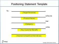 Image result for messaging and positioning template
