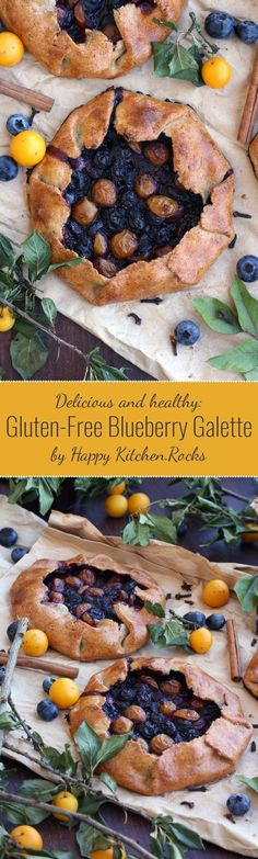 This easy and healthy gluten-free blueberry galette recipe is perfect for early…