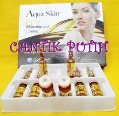 Skinnic Aqua EGF Isi: 6 ampul+6vial Fungsi:  - Memutihkan warna kulit  - Meningkatkan elastisitas kulit  - Melembabkan kulit  - Mencegah perubahan warna kulit ketika terexpos radiasi UV  - Mengurangi garis-garis halus dan kerutan  - Mengecilkan pori-pori