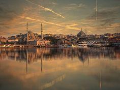 Sunset over Golden Horn by Albena Markova, via 500px