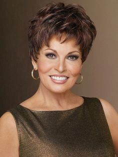 Winner Elite by Raquel Welch is a pixie with barely waved layers that's perfect…