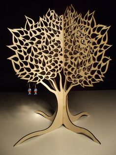 Intrincate laser cut jewellery tree