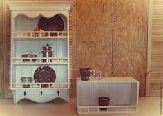Полка на кухню в стиле прованс