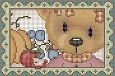 Cross Stitch For Kids, African Flowers, Animal Crackers, C2c, Cross Stitch Patterns, Teddy Bear, Embroidery, Crochet, Crafts