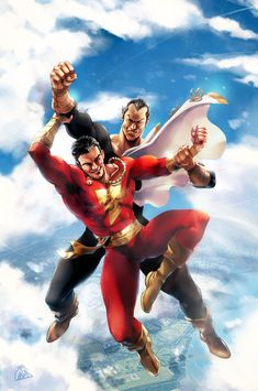 SHAZAM battle in the sky (homage to Ken Kelly) by SANTI-IKARI on DeviantArt