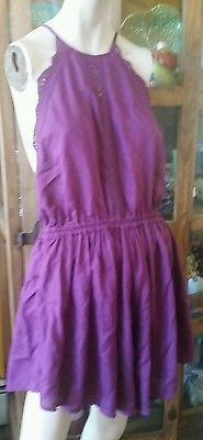 Free People Bali Boho Agung Romper jumpsuit size Large Purple
