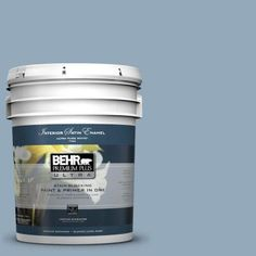 BEHR Premium Plus Ultra 5-gal. #PPU14-9 Windsurf Satin Enamel Interior Paint-775405 - The Home Depot