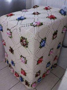Harmonia Em Crochê: Capa de crochê para maquina de Lavar roupas