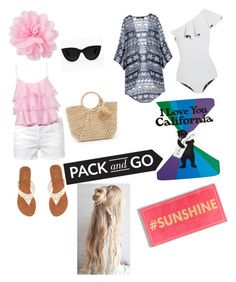 """Pack and Go California holiday competition."" by elliewalker480 ❤ liked on Polyvore featuring Frame Denim, Lisa Marie Fernandez, Hat Attack, Pierre Balmain, Charles Albert and Quay"