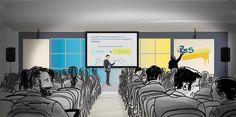 Proposal set design - render corporate healthcare event
