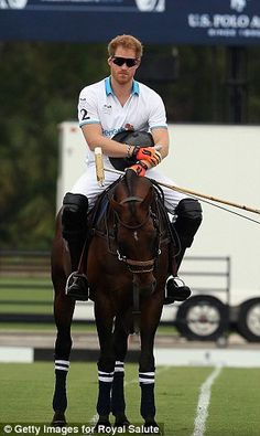 Competition: Harry has faced polo star Nacho on many occasions and the two have become clo...