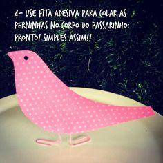 Paper clip and paper bird. Passarinhos de papel. Festa de passarinho. Madame Tutu.