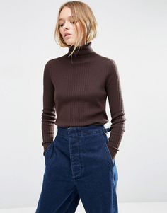 ASOS Jumper With High Neck In Rib