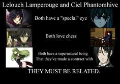 Not To Mention That they kind of look alike #Kuroshitsuji #Code_Geass