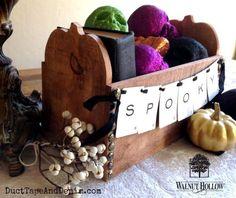 Fall/Halloween Pumpkin Box Centerpiece
