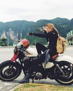 Mia ❤️ Women Riding Motorcycles ❤️ Girls on Bikes ❤️ Biker Babes ❤️ Lady Riders ❤️ Girls who ride rock ❤️TinkerTailorCo ❤️